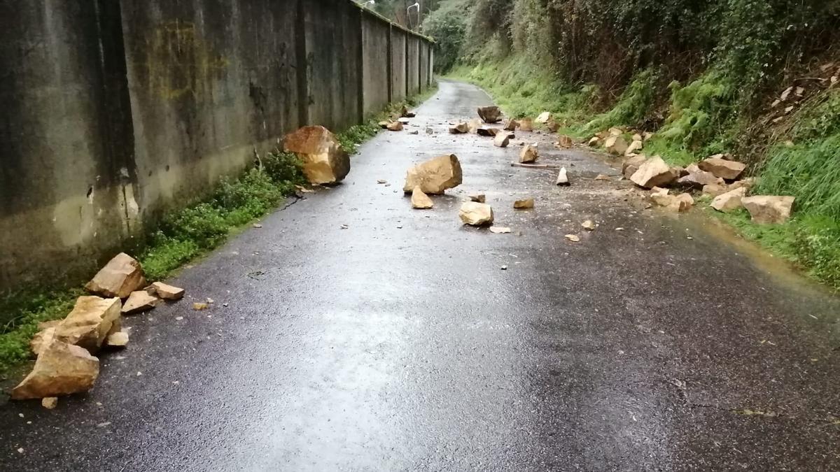Las piedras caídas en el vial de Rodman