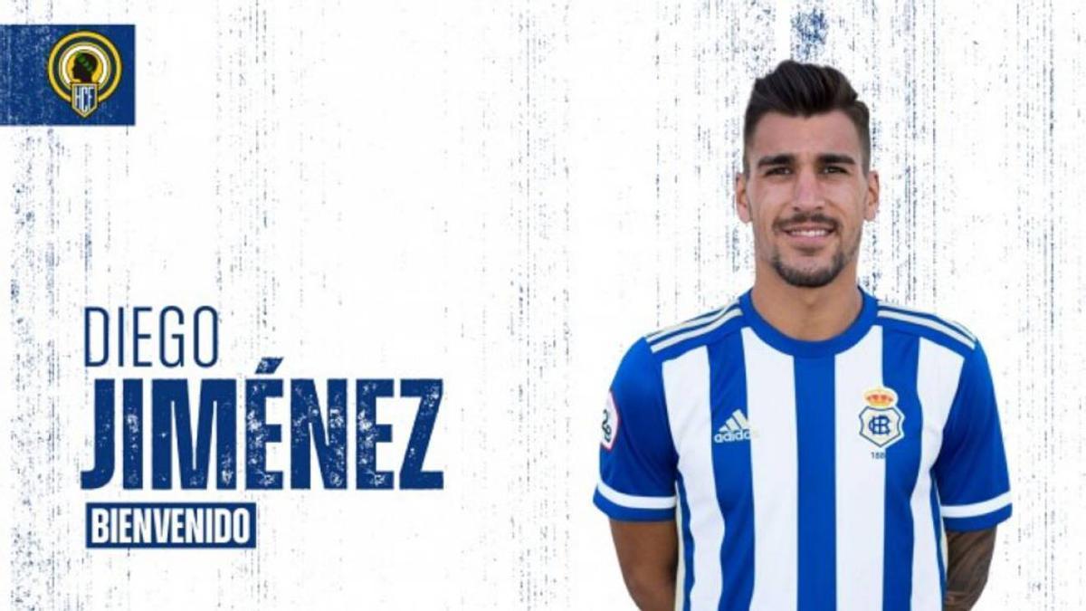 Anuncio del fichaje de Diego Jiménez por el Hércules CF