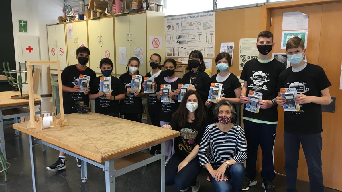 El alumnes participants en el projecte tecnològic.