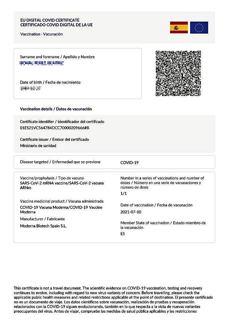 Los códigos QR de los certificados covid UE, indescifrables para el Govern