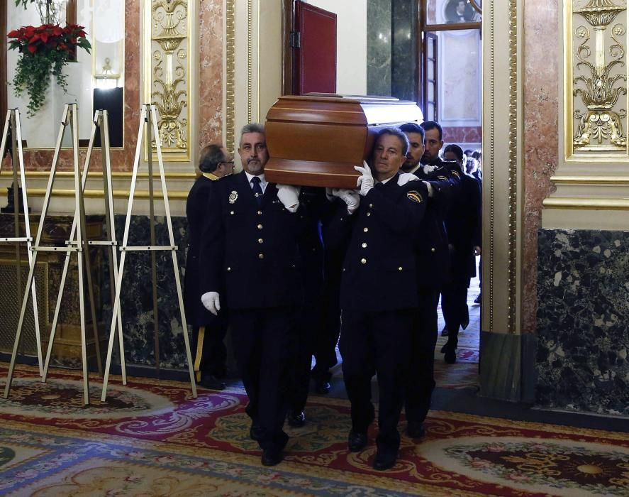 Llegada feretro Marín al Congreso