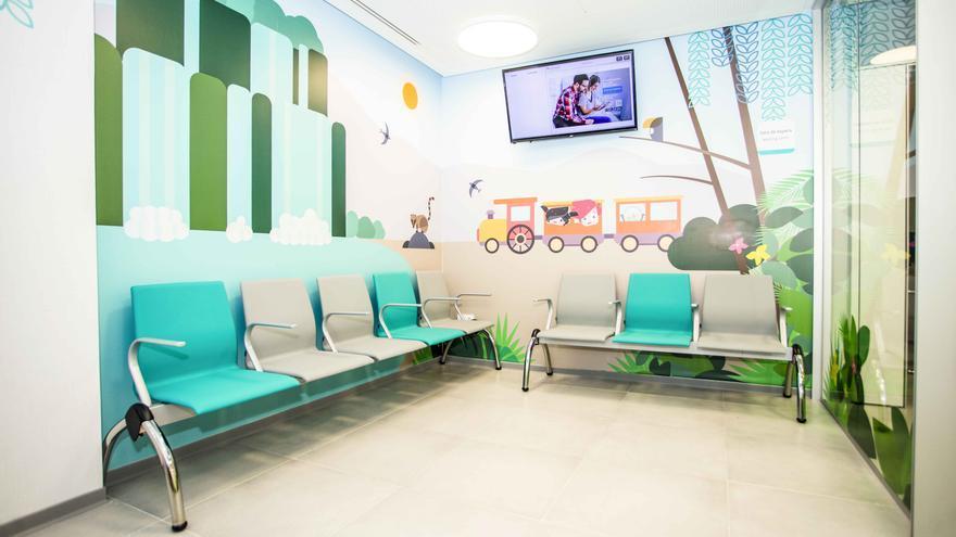 Sala de espera pediatría Quirónsalud Alicante