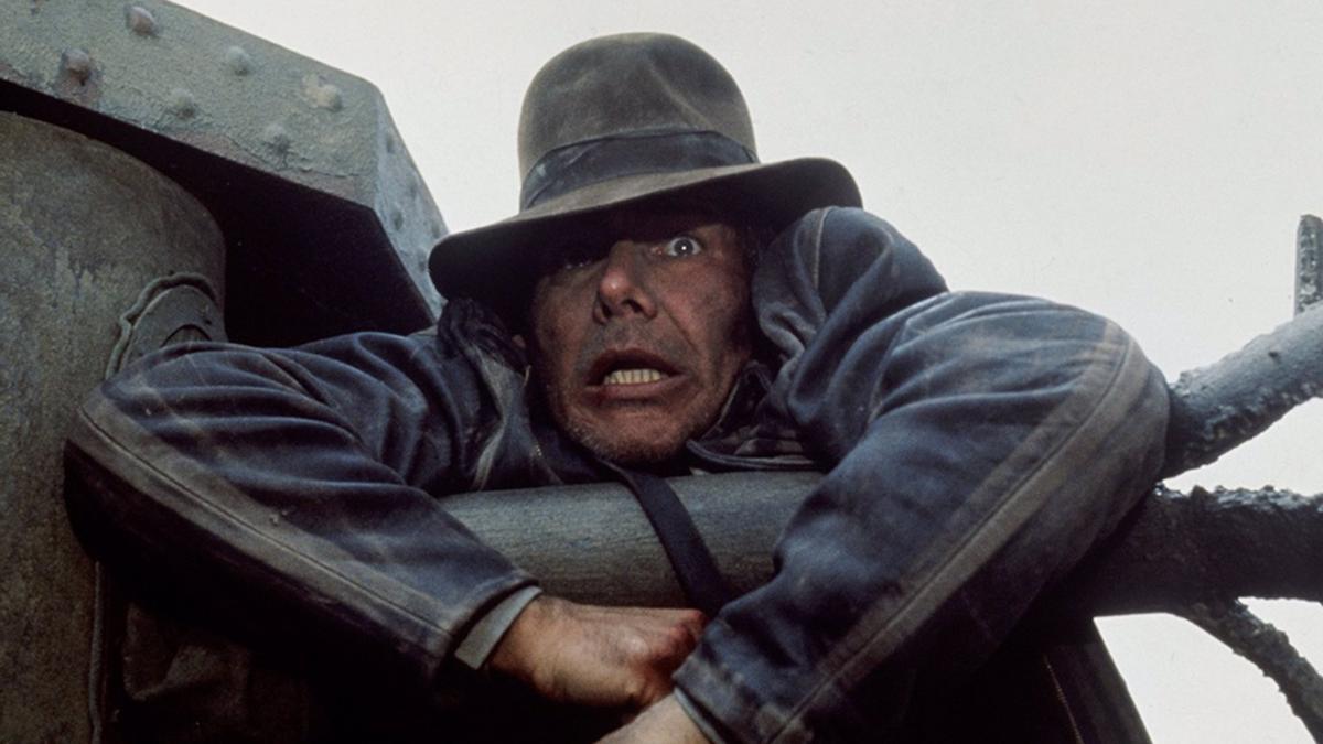 Harrison Ford en el papel de Indiana Jones.