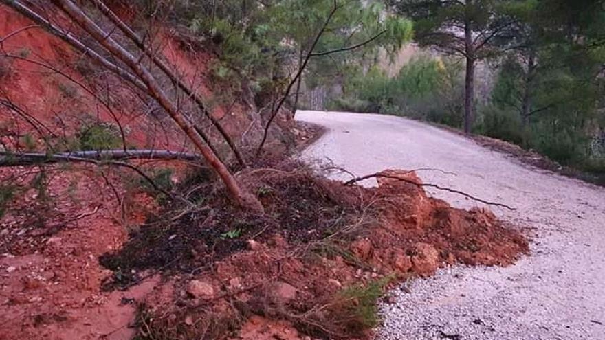 Chera repara de urgencia los caminos dañados por las tormentas para facilitar la recogida aceitunas