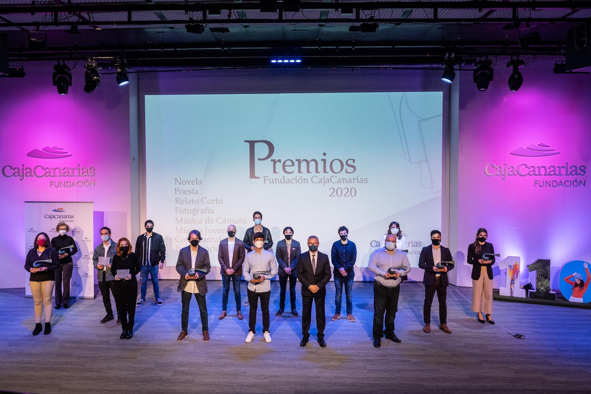 Entrega de los premios culturales de CajaCanarias 2020