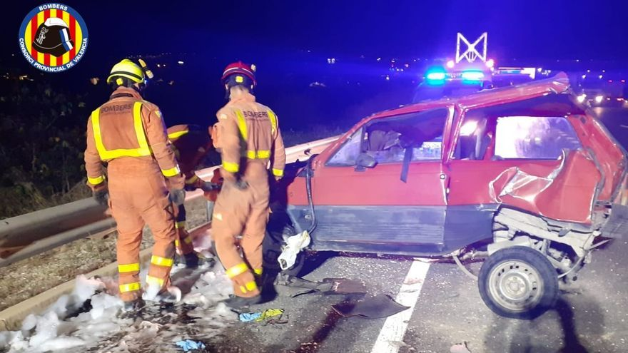 Accidente de tráfico en la A-7 a la altura de Beneixida