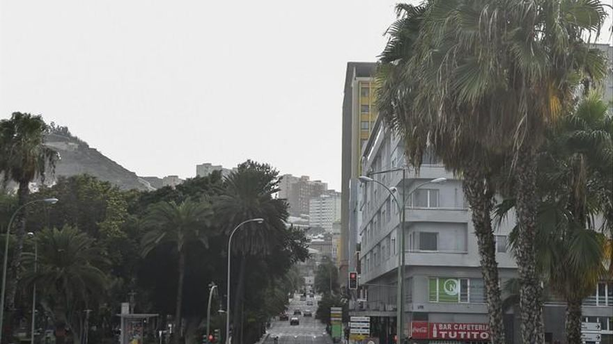 Calor y calima en Las Palmas de Gran Canaria (20/8/2017)