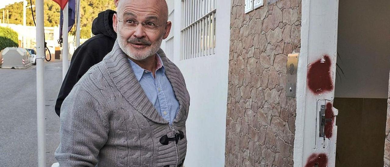 El expolítico entra en la cárcel de Eivissa tras uno de sus permisos.