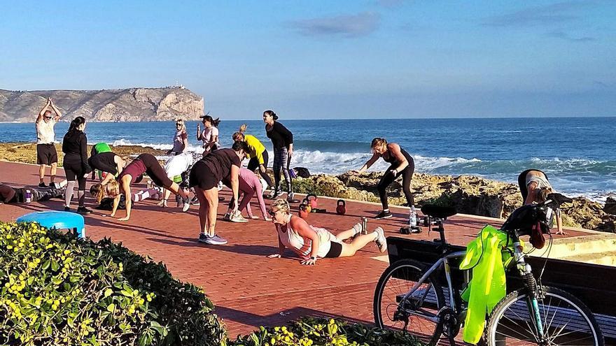 Los gimnasios de Xàbia se mudan a las playas