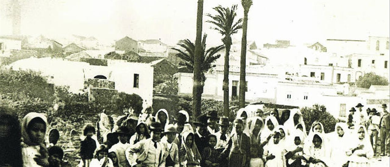 El primitivo núcleo urbano de Ingenio a finales del siglo XIX.