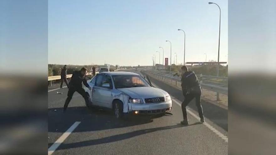 La espectacular persecución policial al volante en Huelva
