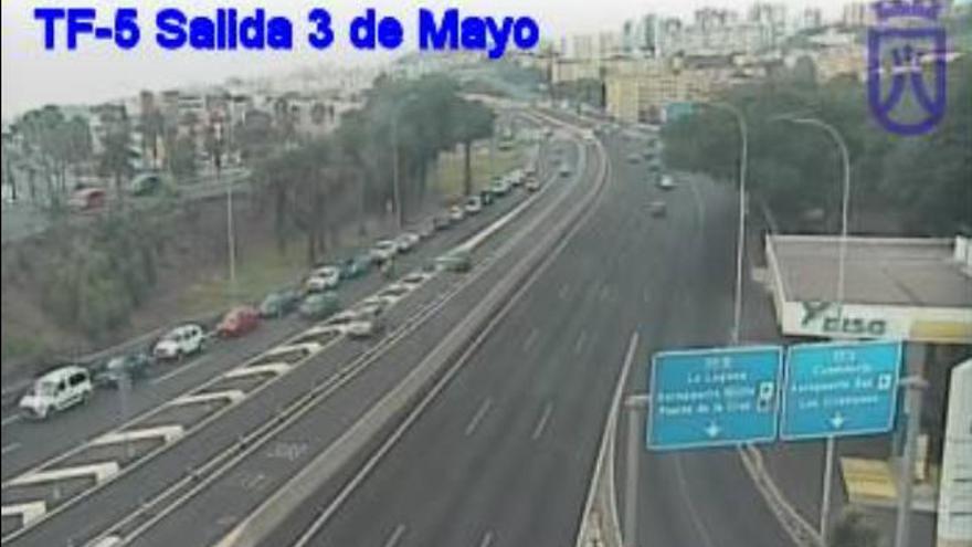Accidente en la avenida Manuel Hermoso Rojas