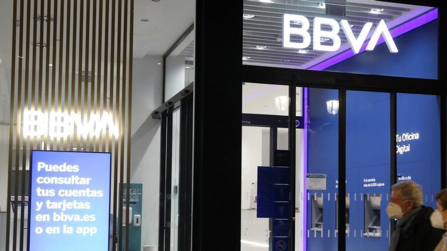 Los trabajadores de BBVA inician movilizaciones en Oviedo y otras ciudades