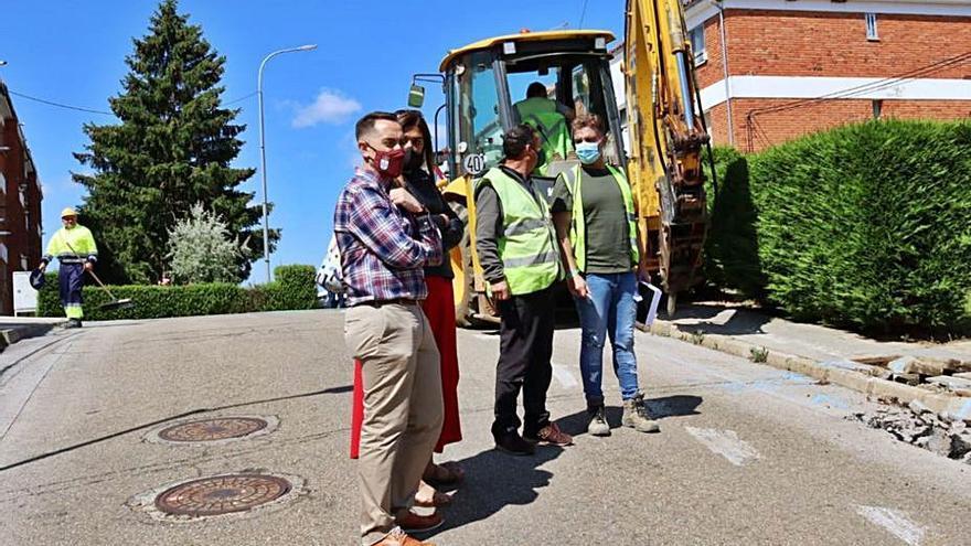Comienzan las obras de reurbanización del barrio San Isidro de Benavente