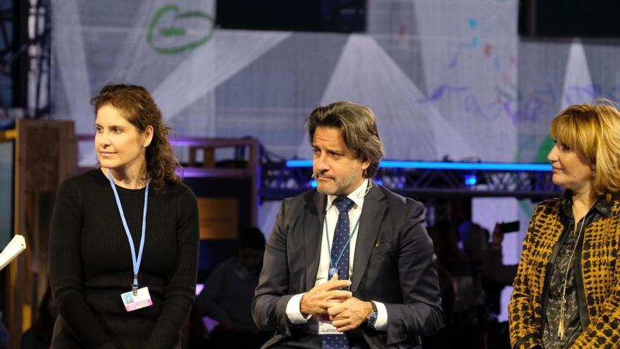 Gustavo Matos, presidente del Parlamento de Canarias, en la Cumbre del Clima COP25