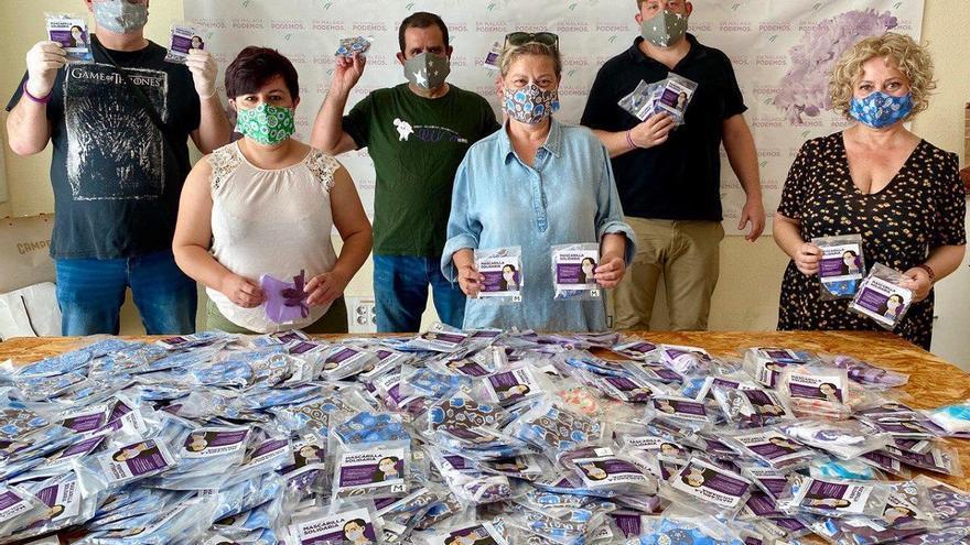 Podemos Málaga y 'Costureras en movimiento' producen 1.500 mascarillas