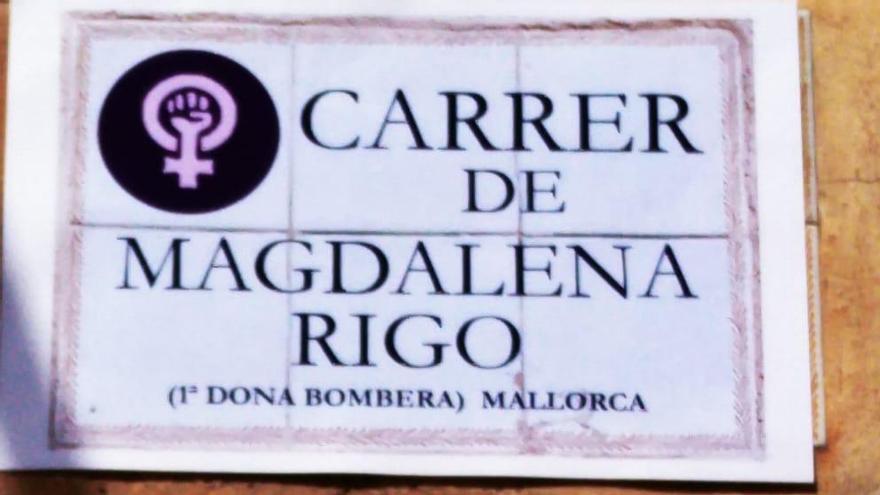 Jóvenes de Sencelles cambian los nombres de las calles del pueblo por los de mujeres