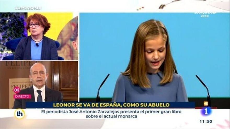 La irónica reacción del periodista despedido de TVE por su rótulo sobre Leonor