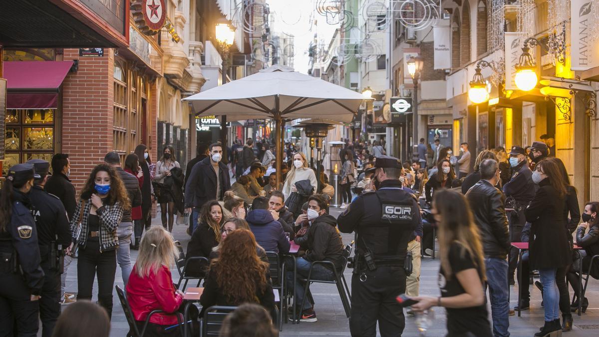 Imagen de archivo de una zona de ocio de Alicante