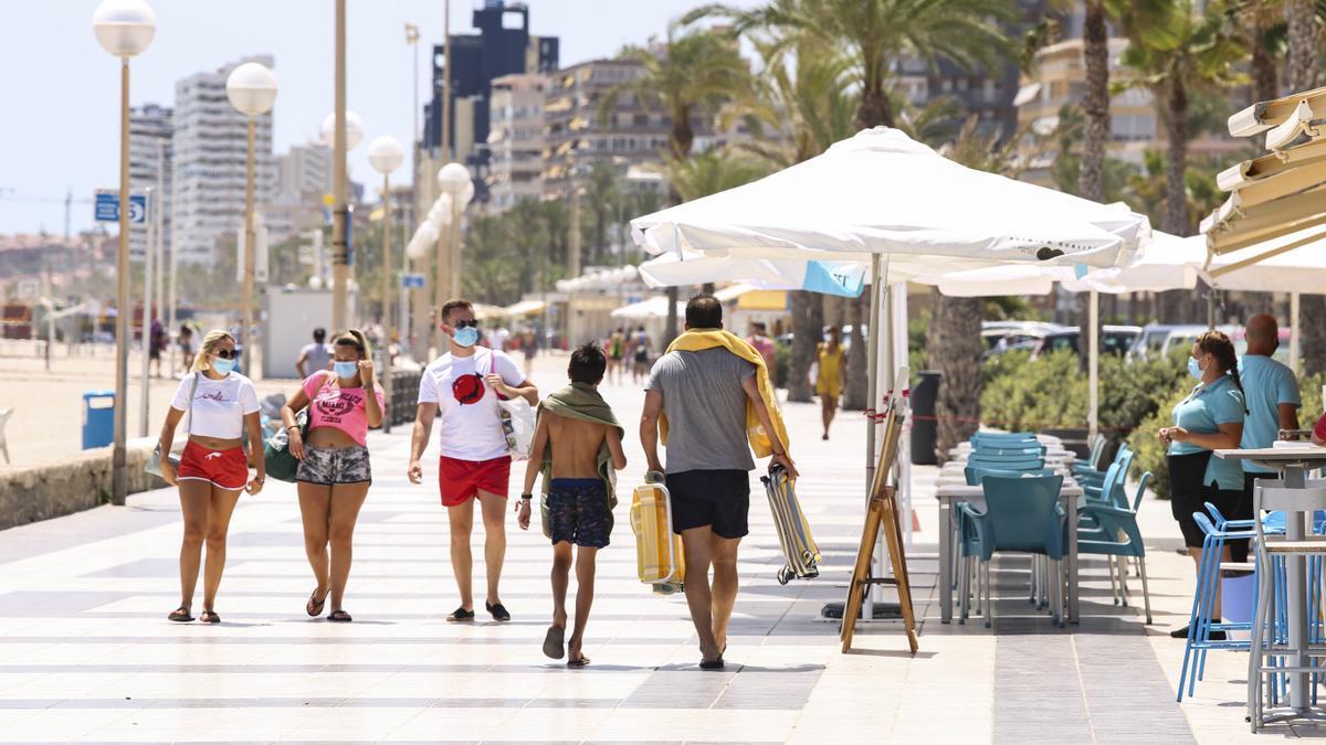 Playa de San Juan, el barrio con menos registro covid.