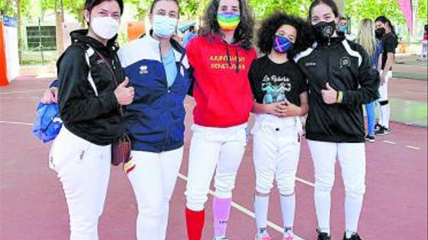 L'Horta Sud destaca en el I Torneo de esgrima femenino en Toledo