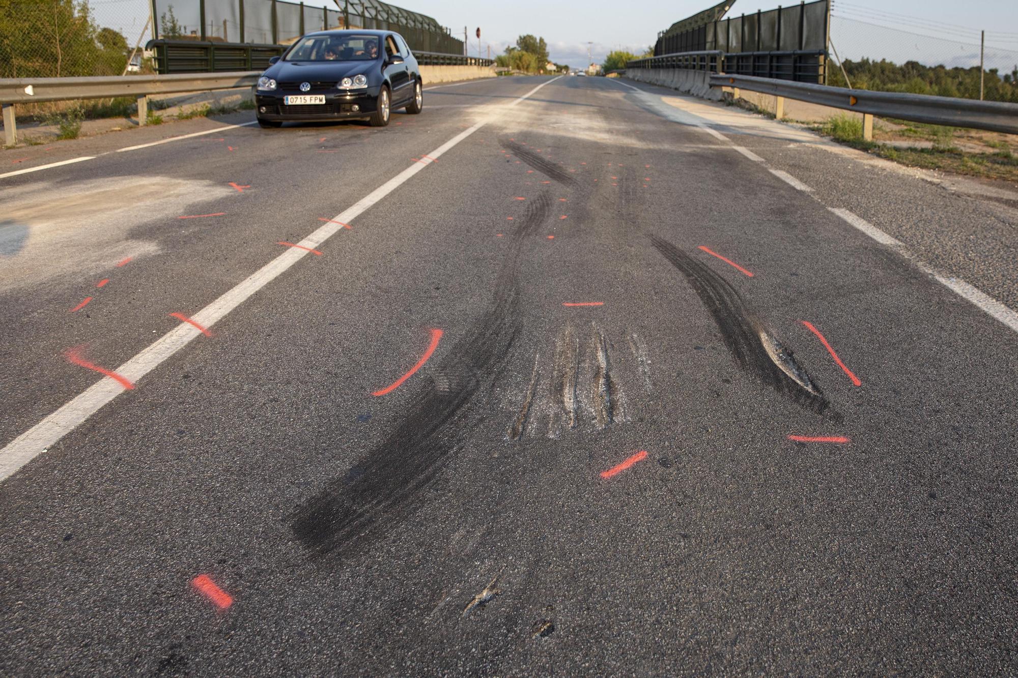 Tres jugadors del Girona B, ferits en un accident de trànsit