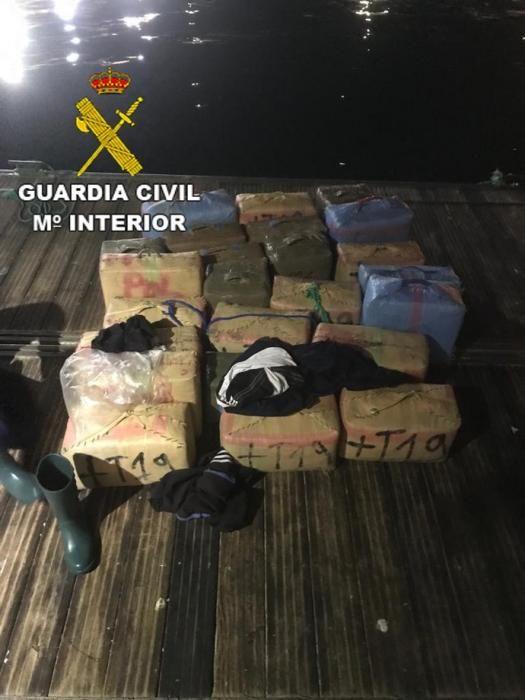 Interceptada una zodiac con 720 kilos de hachís al sur de Gran Canaria