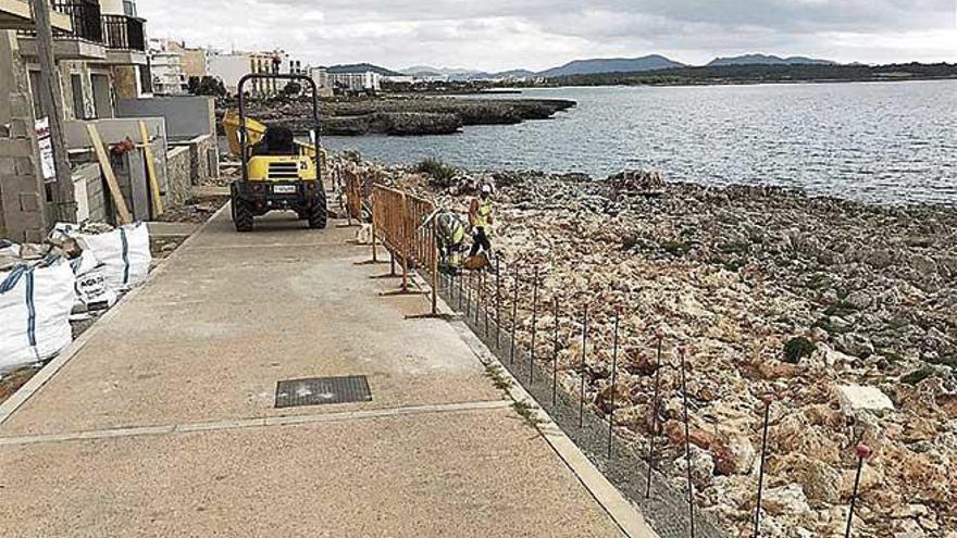 Manacor pone en marcha las obras de los paseos marítimos afectados por 'Gloria'