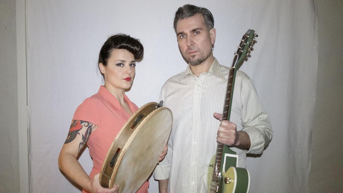 Leticia González i Rubén Bada són L-R, grup asturià que actuarà per primera vegada a Castelló.