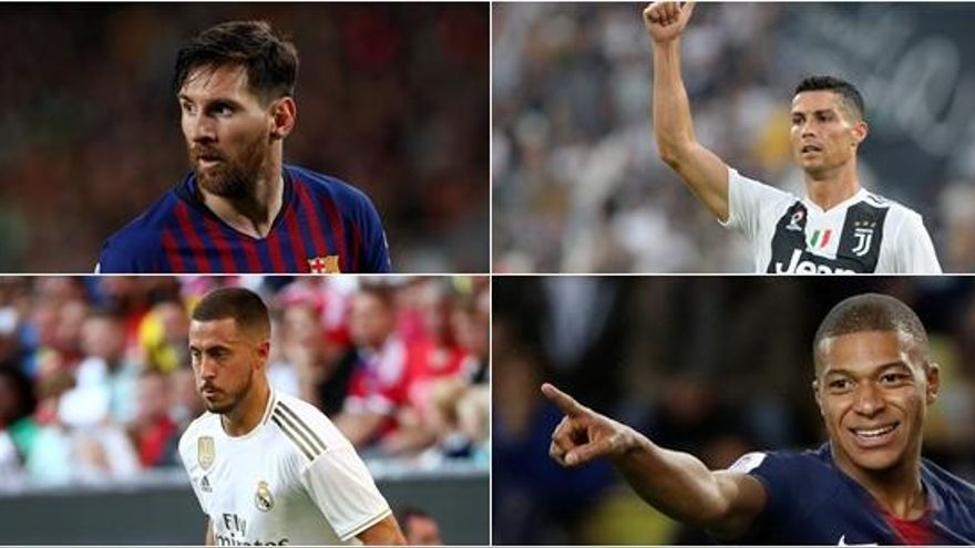 Messi, Cristiano, Hazard y Mbappe, entre los candidatos al premio 'The Best' 2019