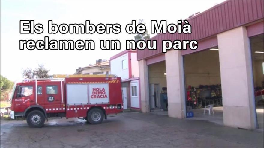 Els bombers de Moià denuncien manca de recursos i reclamen l'inici del nou parc