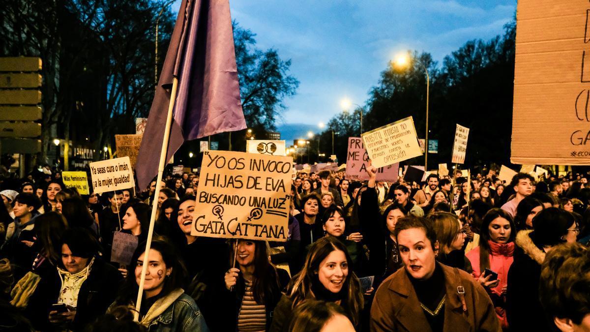 Una imagen de una manifestación del 8M en Madrid.