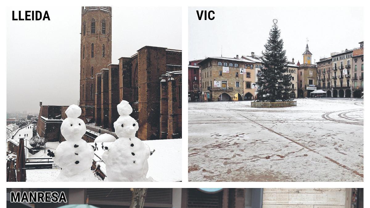 Imatges del dissabte dia 9 de gener quan va nevar arreu del país