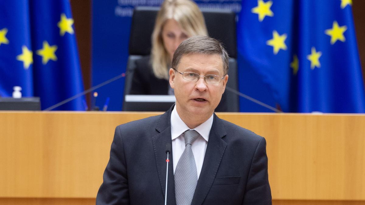 El vicepresidente económico de la Comisión Europea, Valdis Dombrovskis.