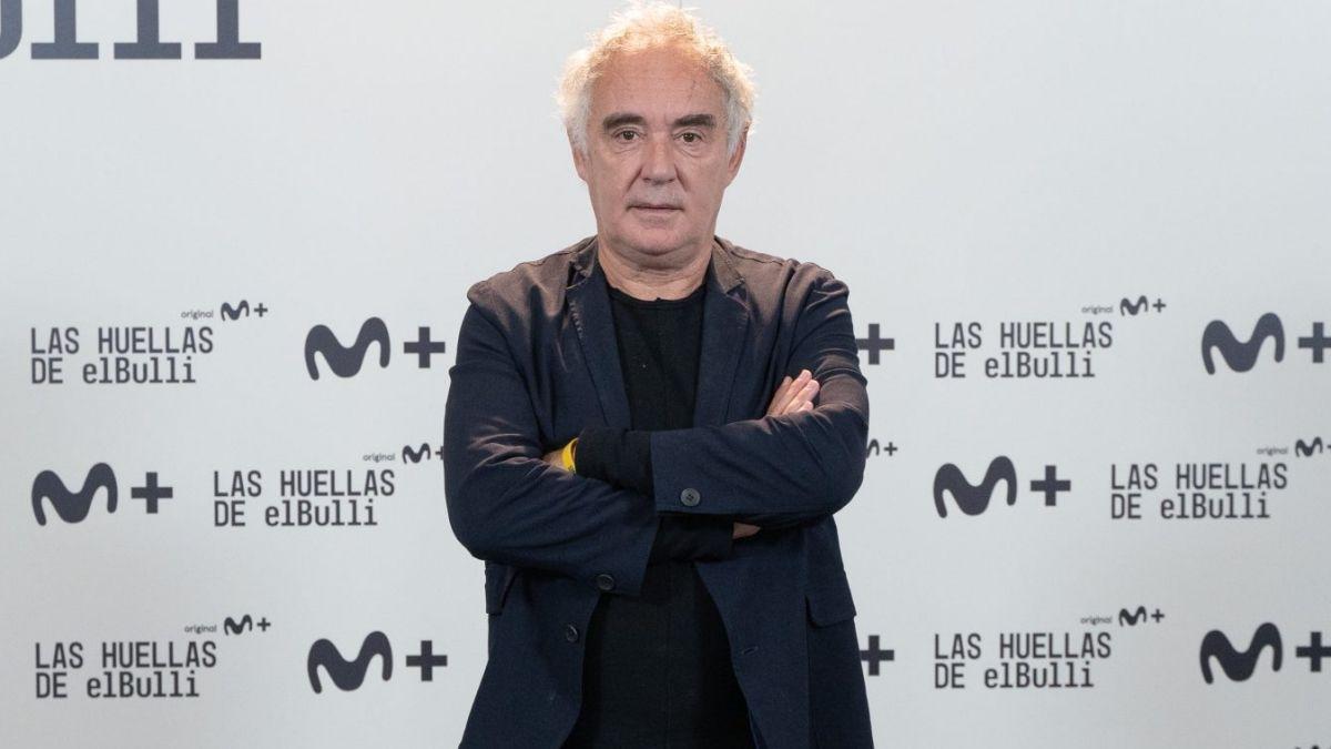 Ferran Adriá en la presentación de 'Las huellas de elBulli'.