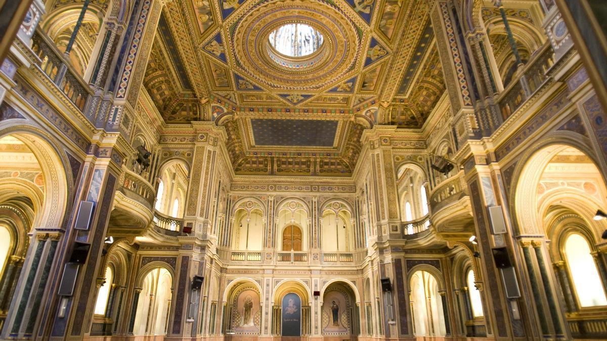 El interior del centro cultural La Beneficencia, ubicado en la calle Corona.