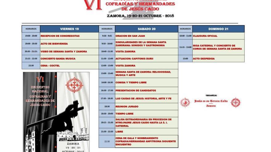 Consulta el programa del VI Encuentro Nacional Cofradías y Hermandades de Jesús Caído