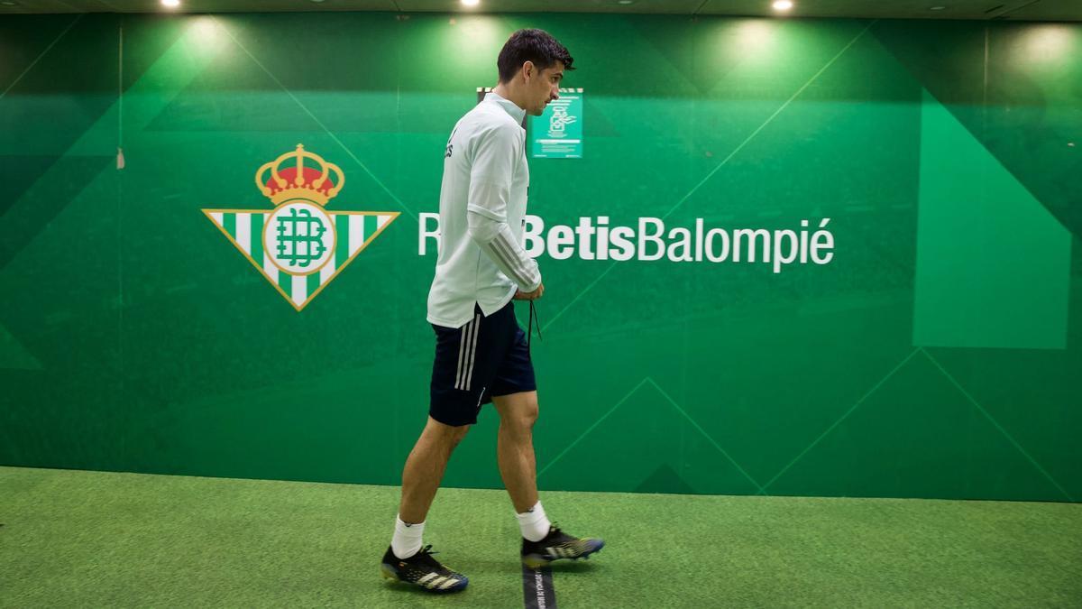 Gerard se ha entrenado en el estadio del Betis.