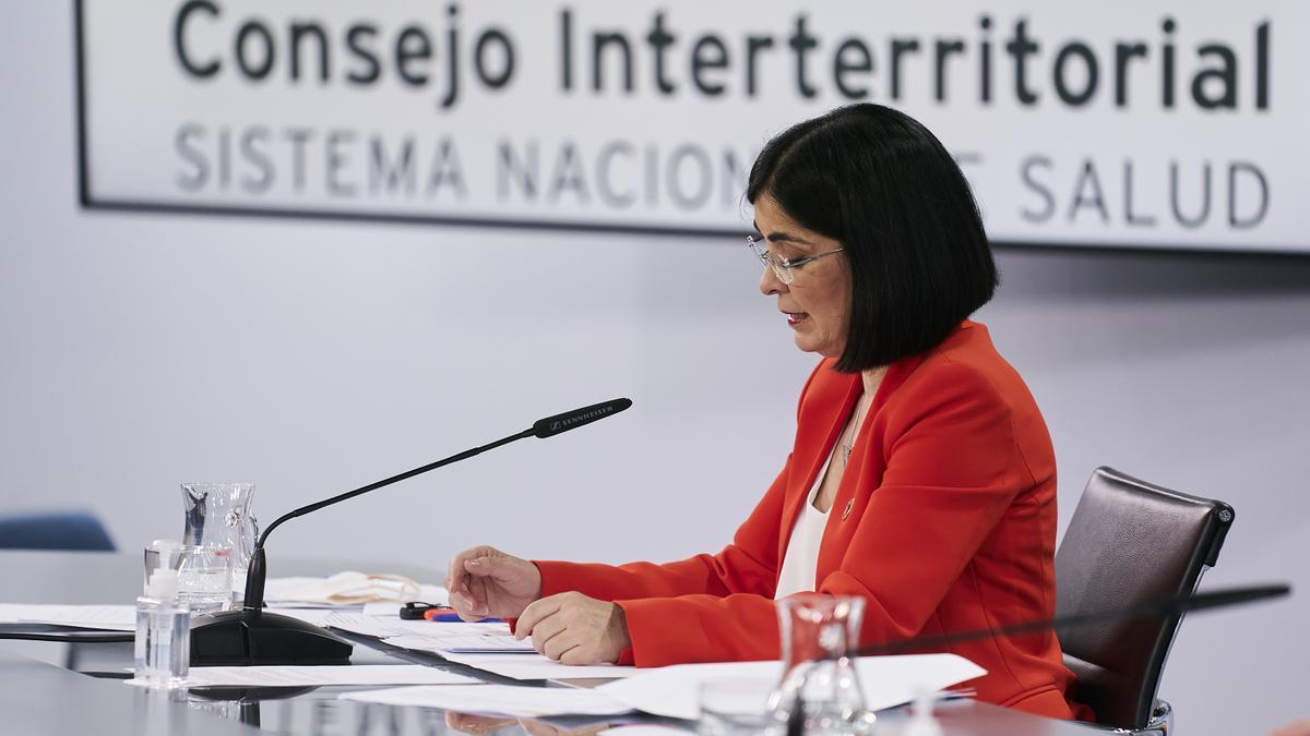 The Minister of Health, Carolina Darias