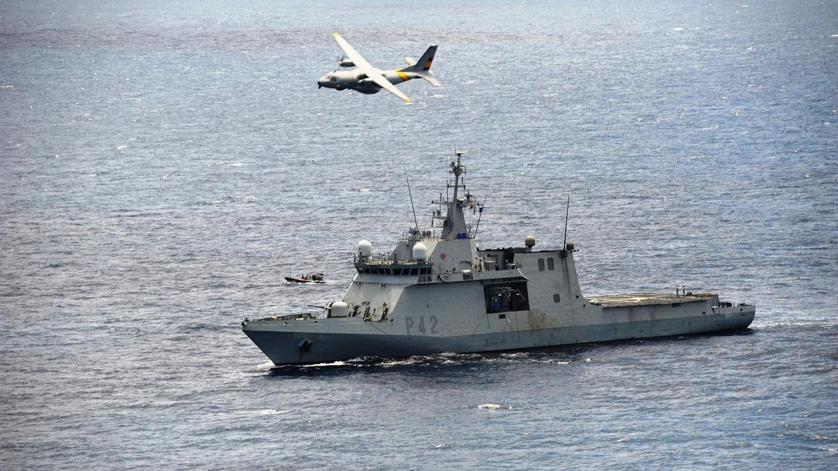 El Buque de Acción Marítima (BAM) 'Rayo', con base en el Arsenal de Las Palmas de Gran Canaria.