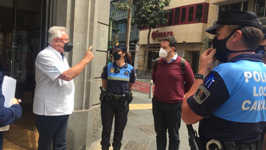 La Policía de Participación Ciudadana analiza las propuestas de los empresarios de León y Castillo