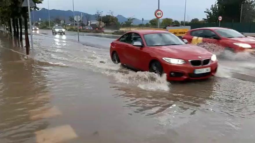 Las tormentas dejan 21,8 l/m2 en veinte minutos a su paso por Castelló