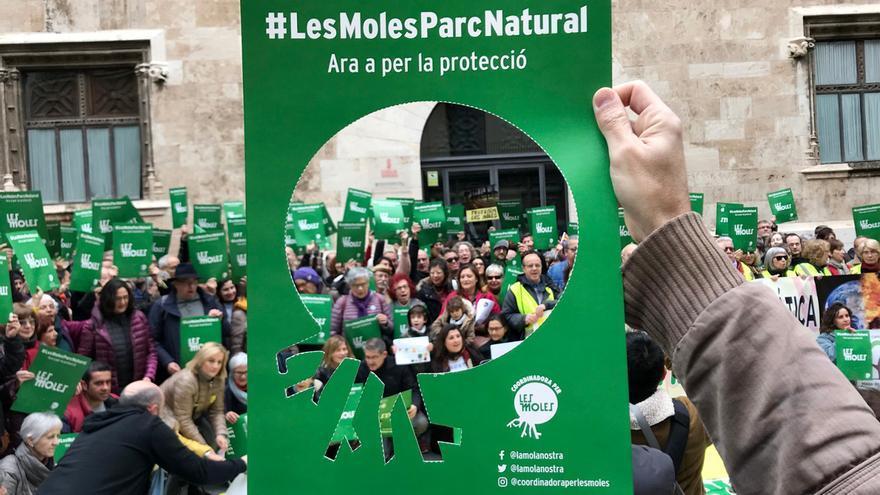 Les Moles pide a medio ambiente que tutele la protección del paraje natural