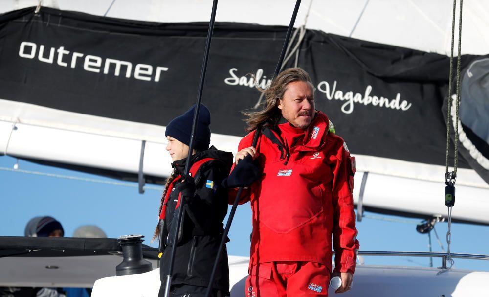 Greta Thunberg llega a Lisboa