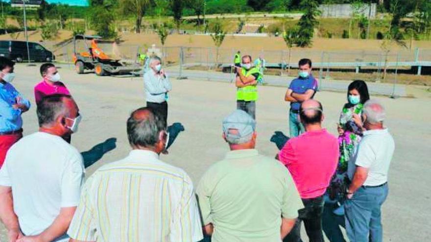 El vial alternativo de Santa Eulalia estará listo en mes y medio tras su reanudación