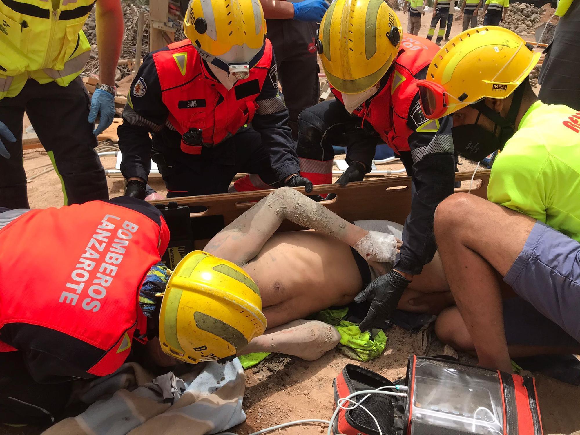 Accidente en una obra en Costa Teguise (09/06/21)