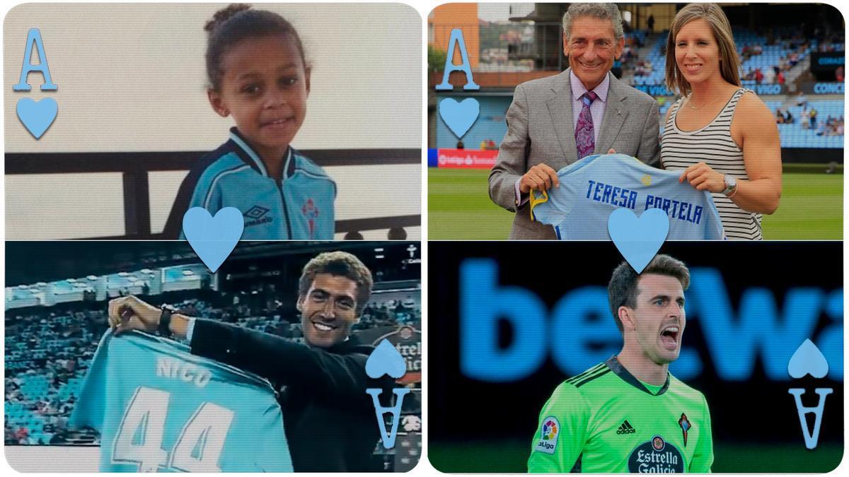 El corazón de los cuatro medallistas gallegos es celeste.