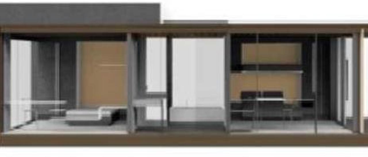 Así serán las habitaciones del hotel de acero de Avilés