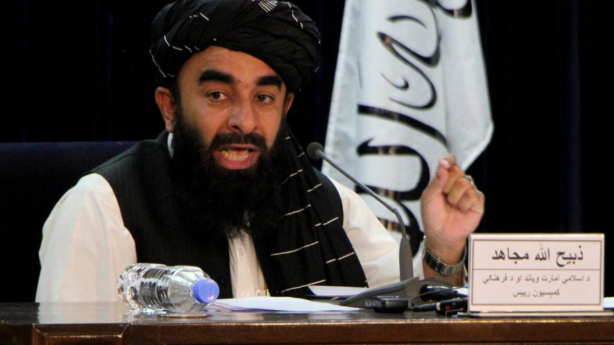 El portavoz de los talibanes, Zabihulá Muyahid.