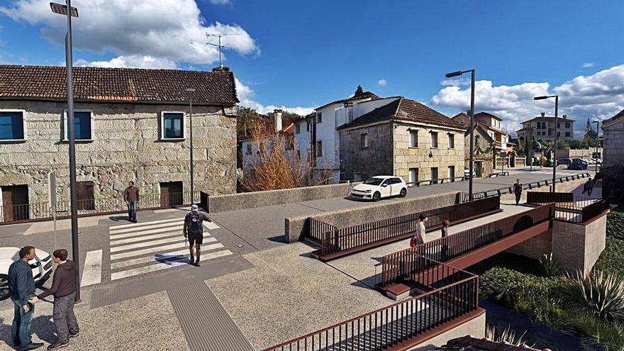 La Xunta comenzará este lunes la obra de la senda peatonal en San Caetano y Alba